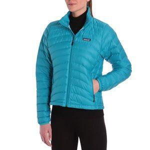 Patagonia Mako Blue Teal Down Puffer Jacket Small